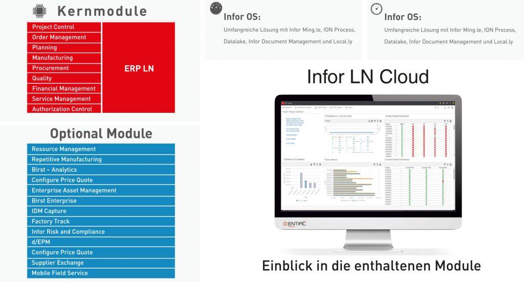 Infor LN Cloud Modulübersicht